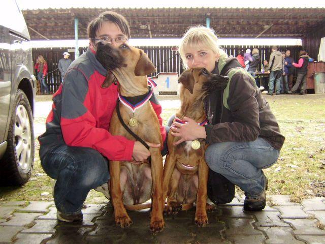 Bailey(vpravo) a Cilla(vlevo)
